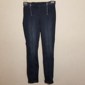 Express Jeans Skinny 8R Blue Dark Wash  High Rise